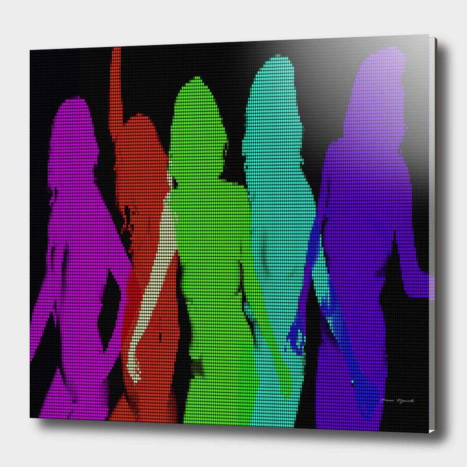 beautiful sexy disco dancer shadow silhouette resolut
