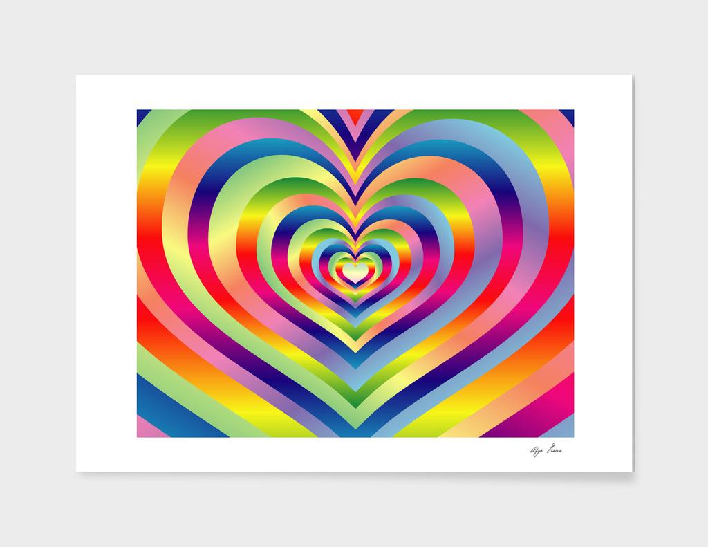 Love Heart Colorful Rainbow Spectrum