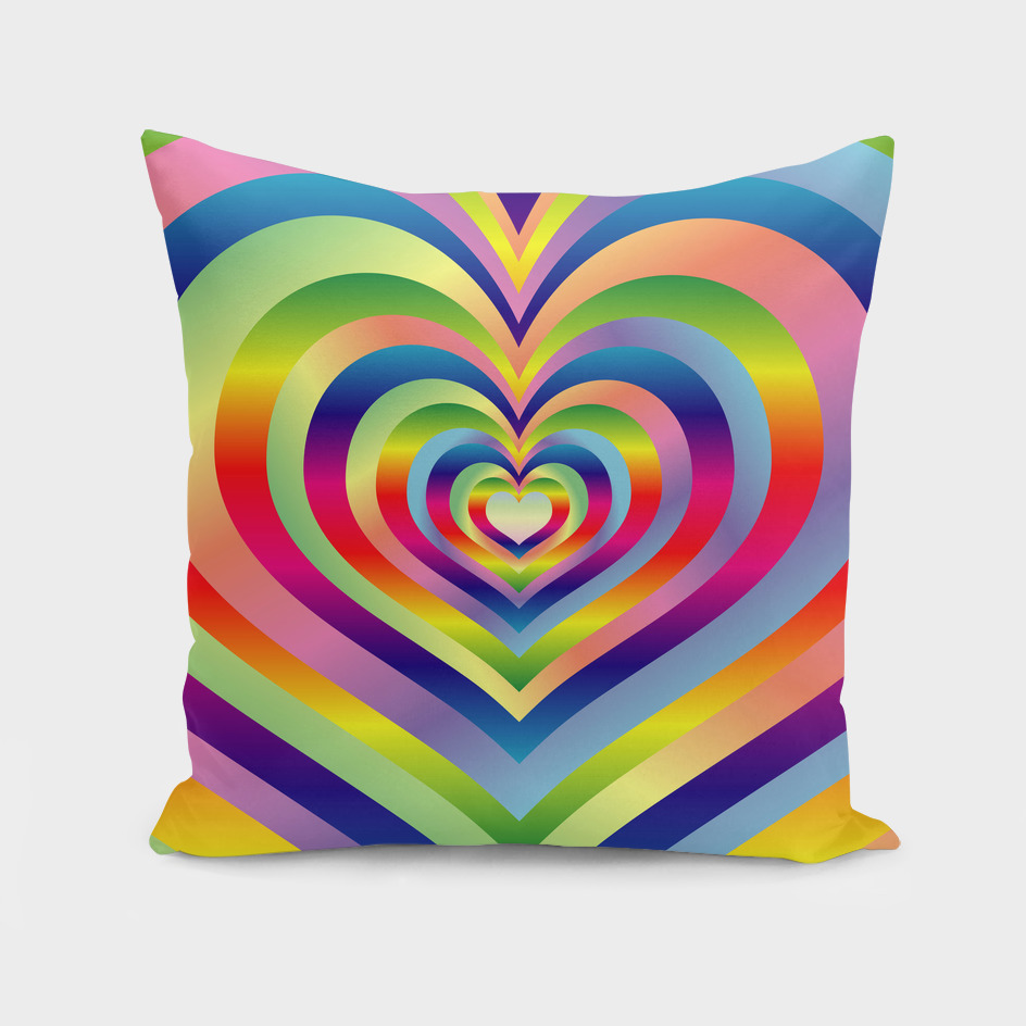 Love Heart Colorful Rainbow Spectrum