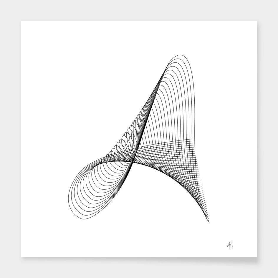 Minimal Typography Letter A