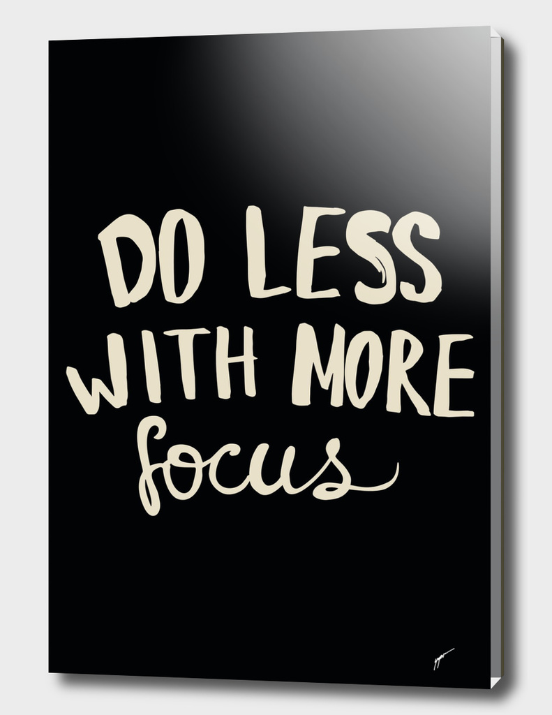 Quote Poster - 40 - Do less