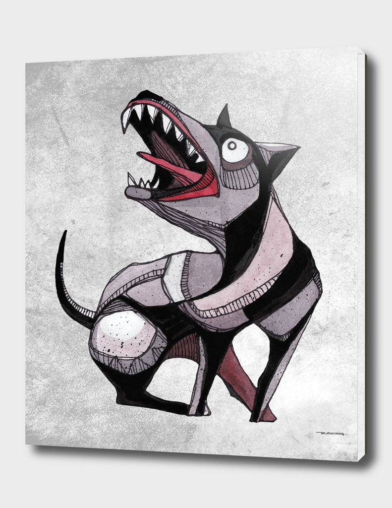 Crazy dog illustration