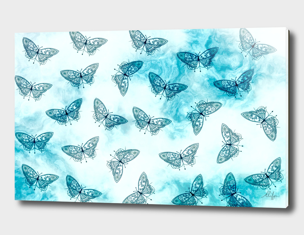 Blue Butterfly Pattern