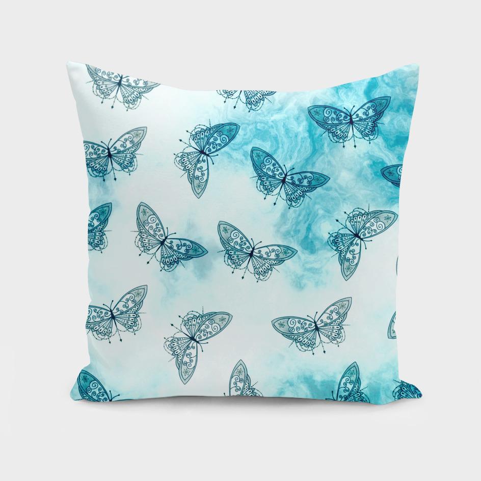 Blue Butterfly Pattern