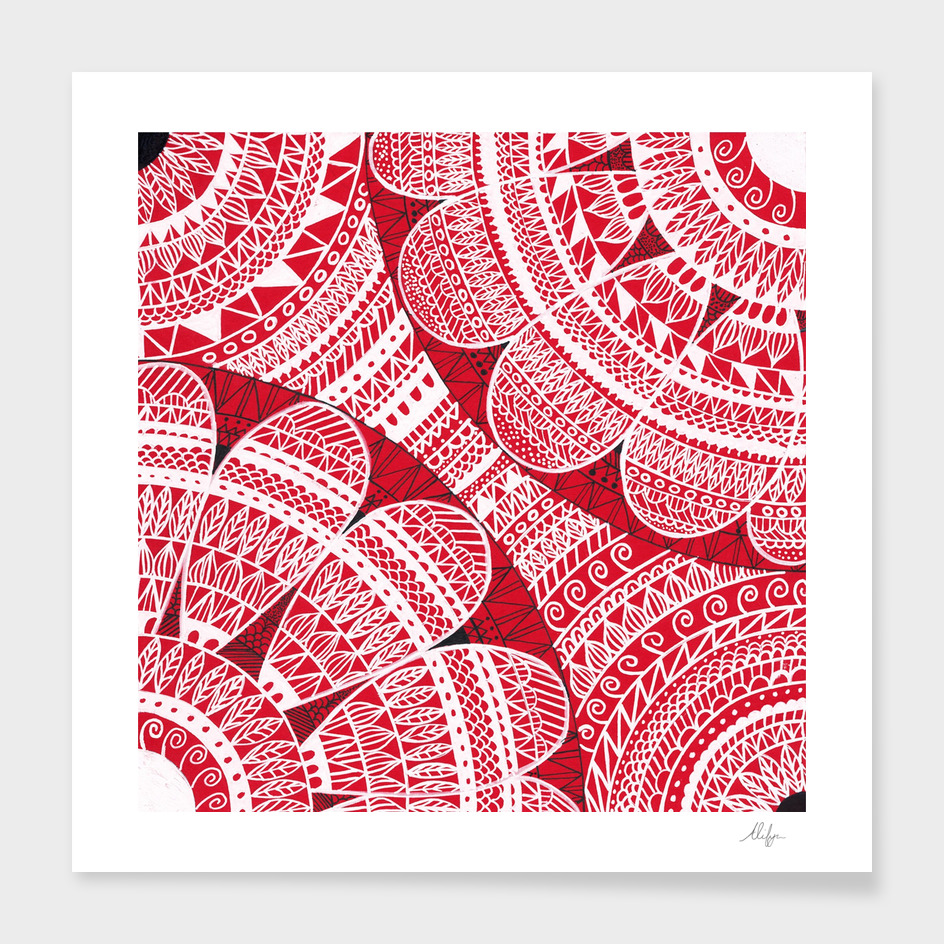 Red Mandala Pattern