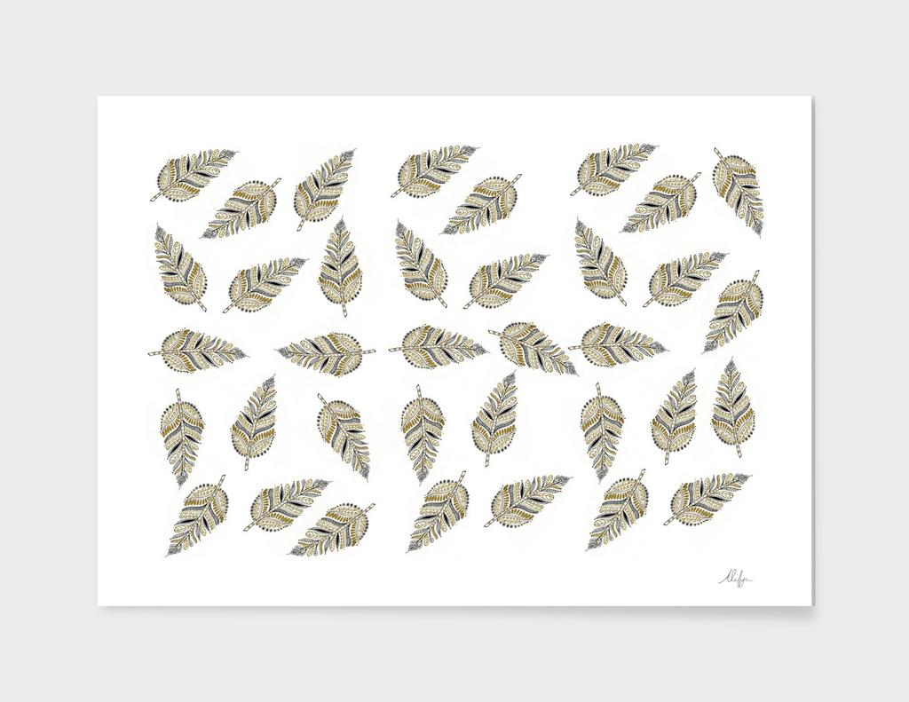 Black and Gold Leaf Pattern
