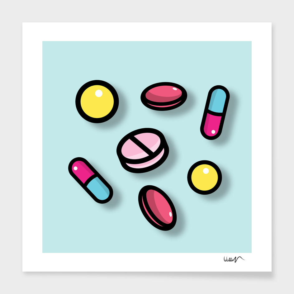 Pills cute pattern