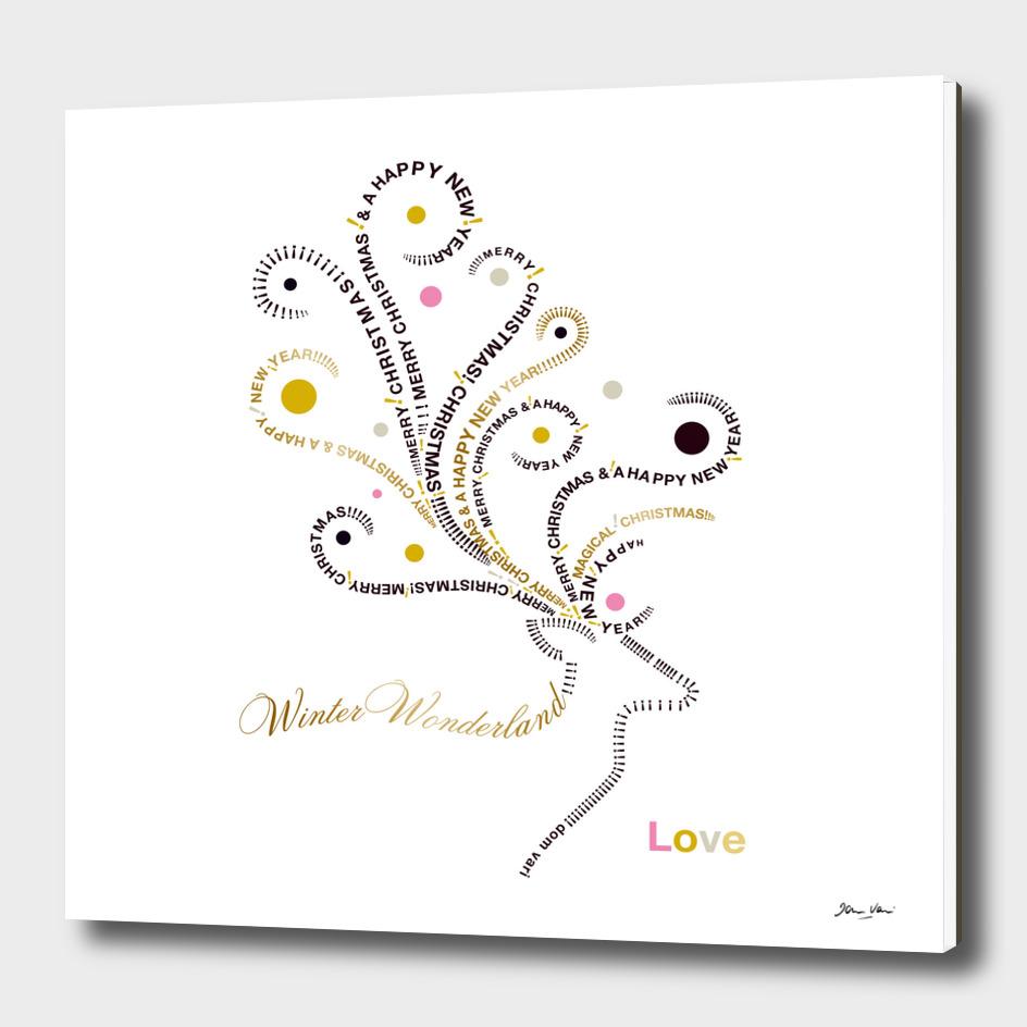 Typographic Reindeer Love