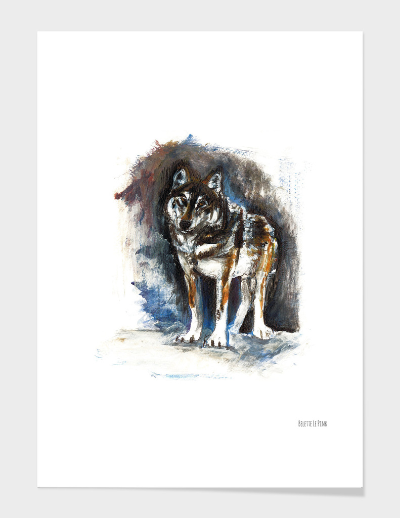 Totem timber wolf