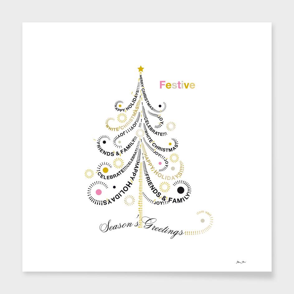 Typographic Christmas Tree