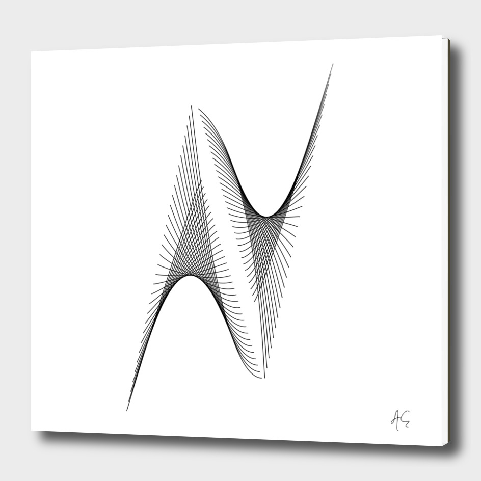 Minimal Typography Letter N