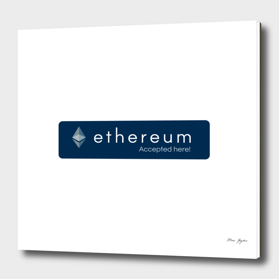 Accepted here: Ethereum