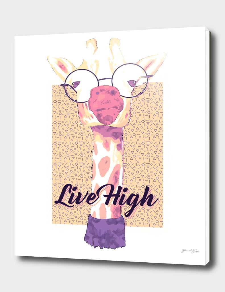 Hipster Giraffe Live High