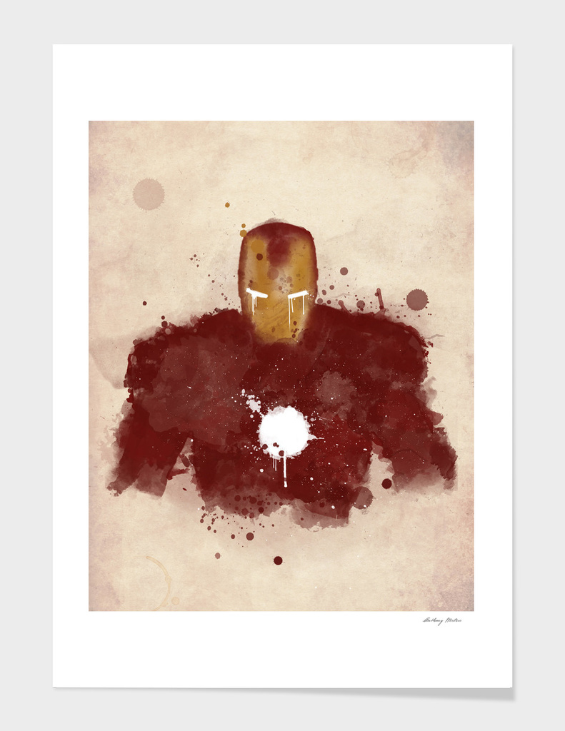 ironman watercolor