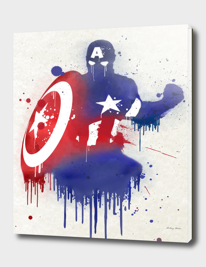 Captain America Watercolor