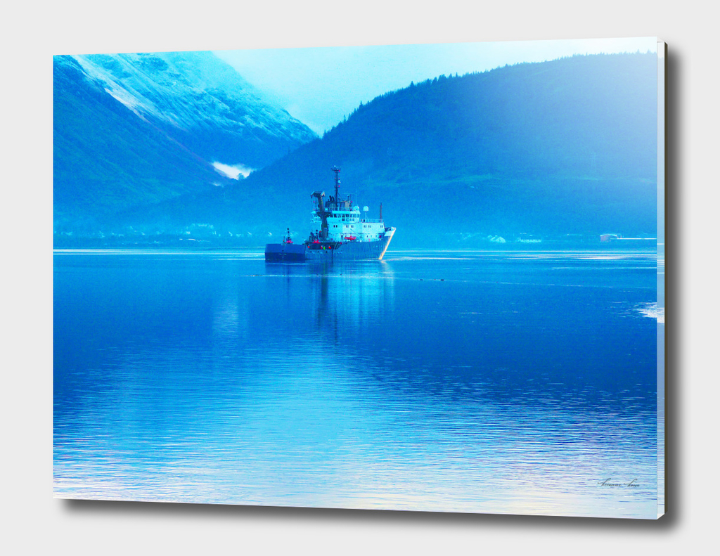 Ship on Loch
