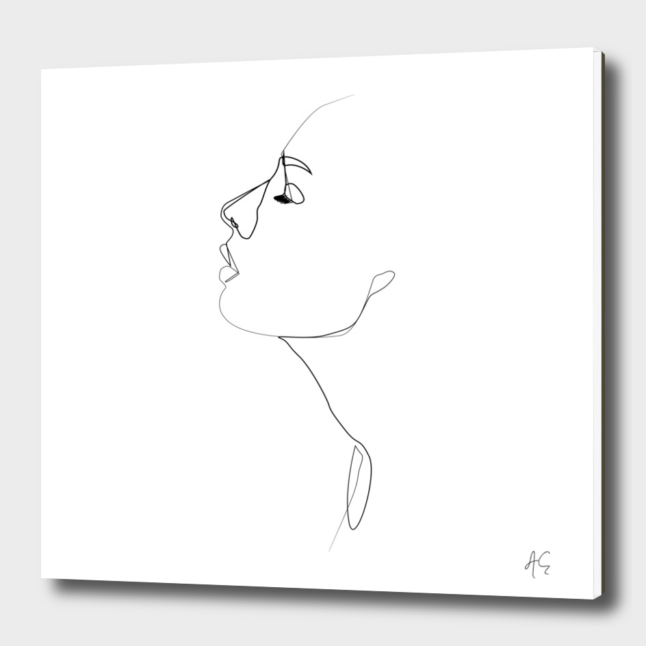 One Line Woman Profile