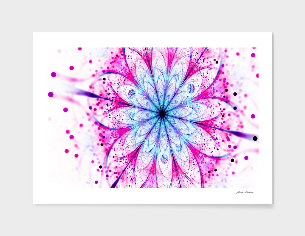 Winter Pink glittered Snowflake