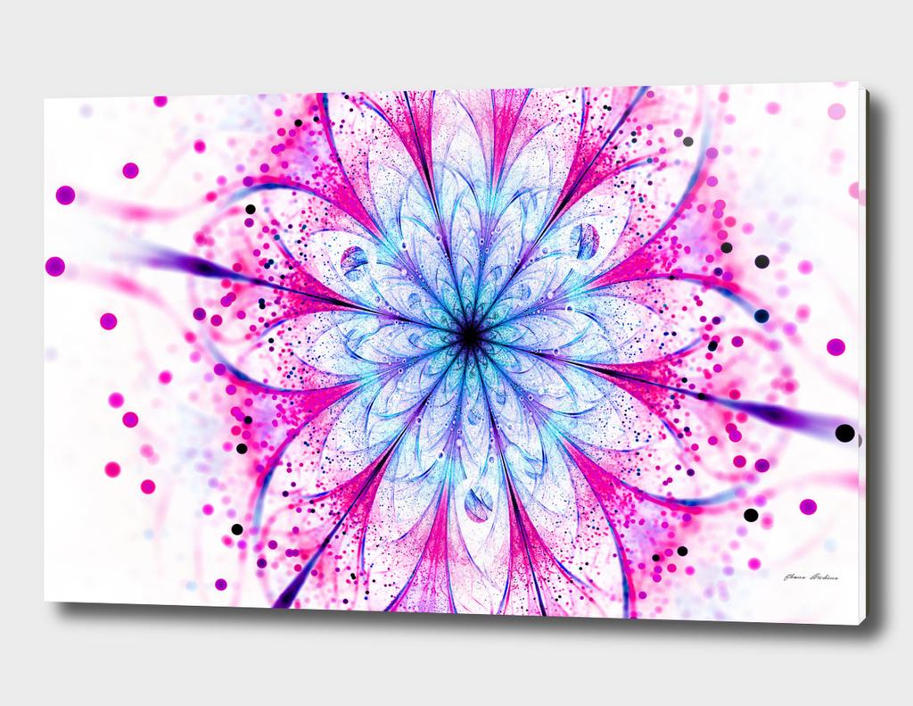 Winter Pink glittered Snowflake