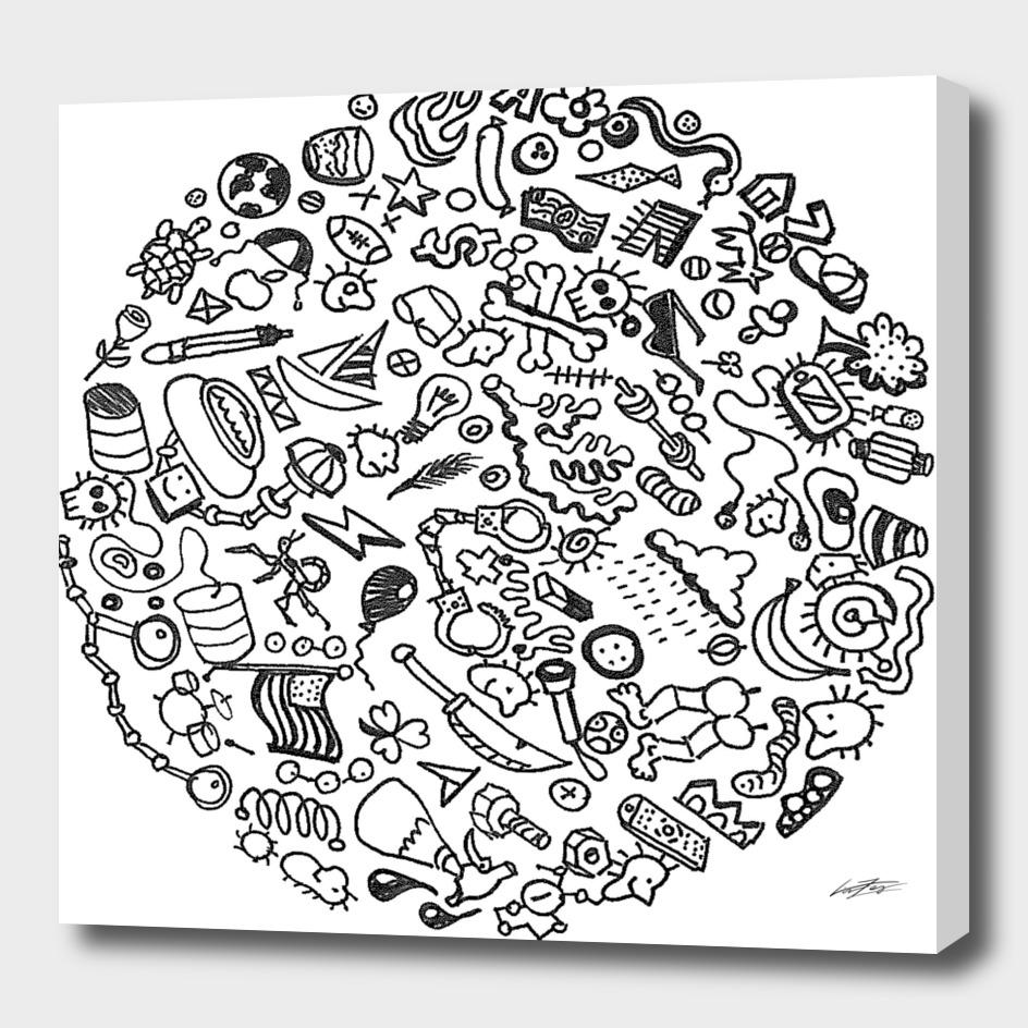 stuff in a circle