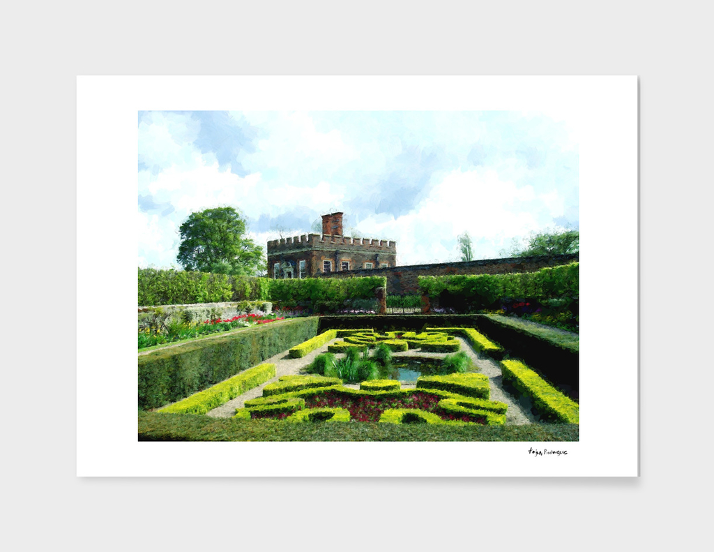 Sunken Gardens at Hampton Court