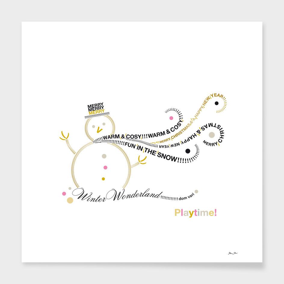 Typographic Snowman