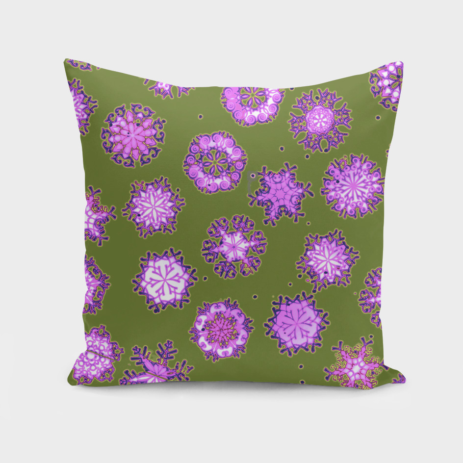 Luxurious Snowflakes ~ Purple & Green