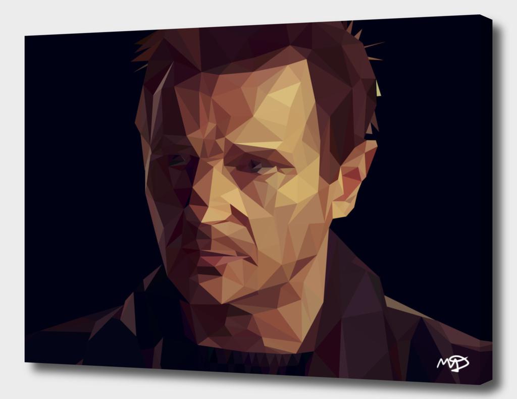 Liam Neeson Lowpoly