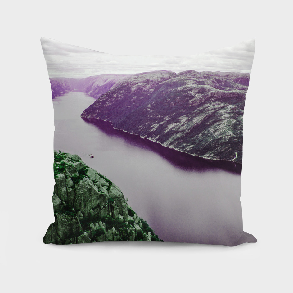 Violet fjord / mystical mountains