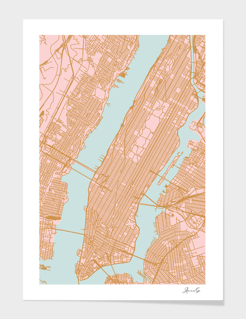 Manhattan map NY