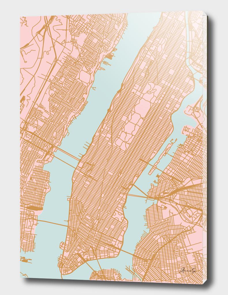 Manhattan map NY