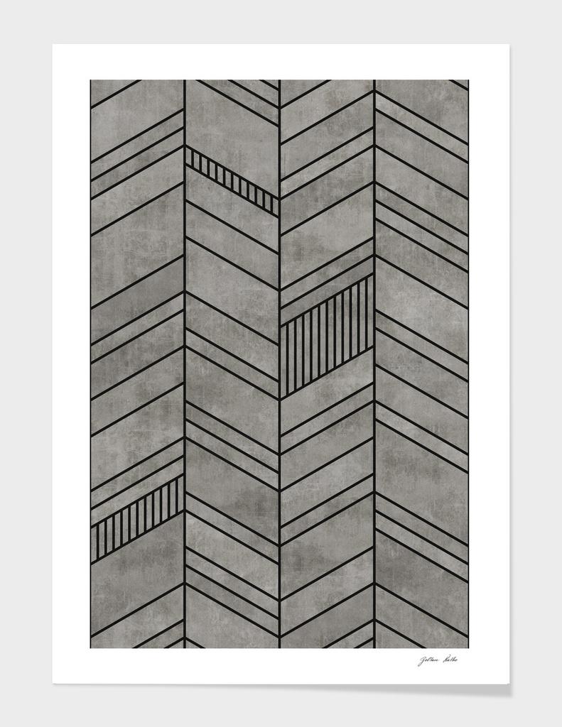 Concrete Abstract Chevron Pattern