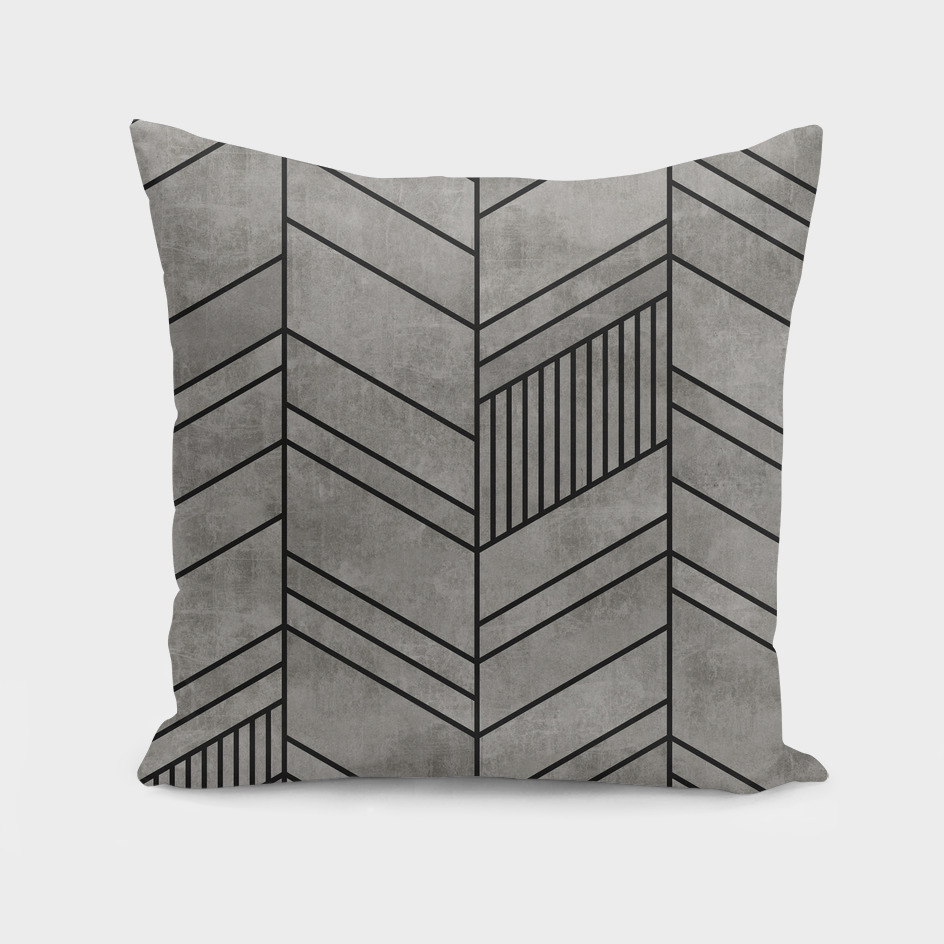 Concrete Abstract Chevron Pattern