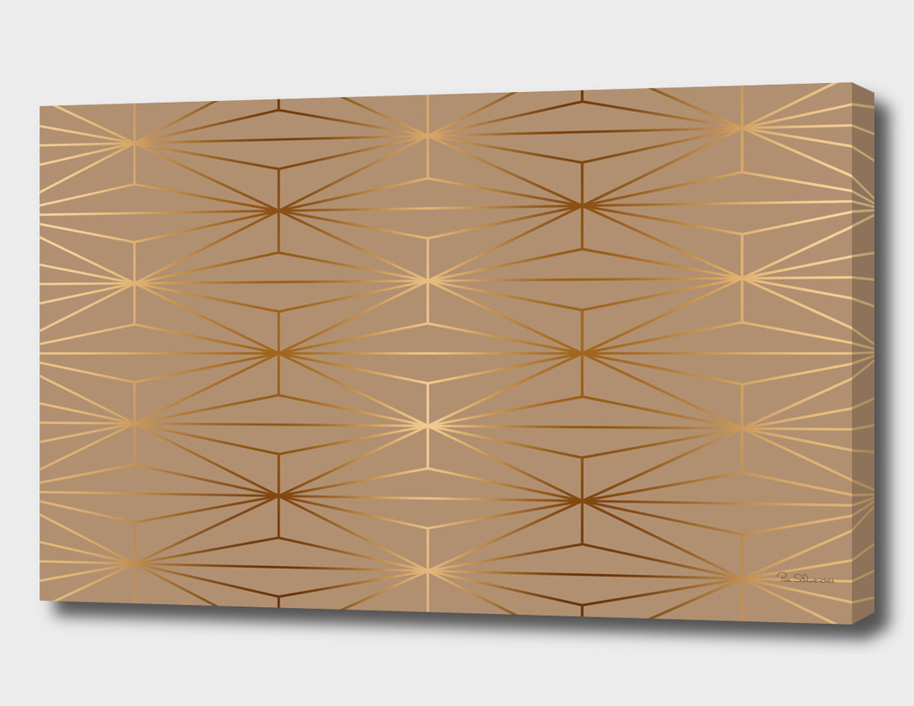 ELEGANT GOLD DIAMOND PATTERN II