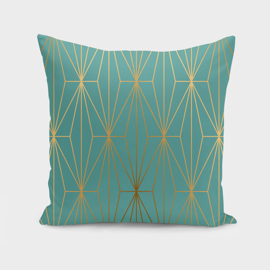 ELEGANT BLUE GOLD PATTERN II