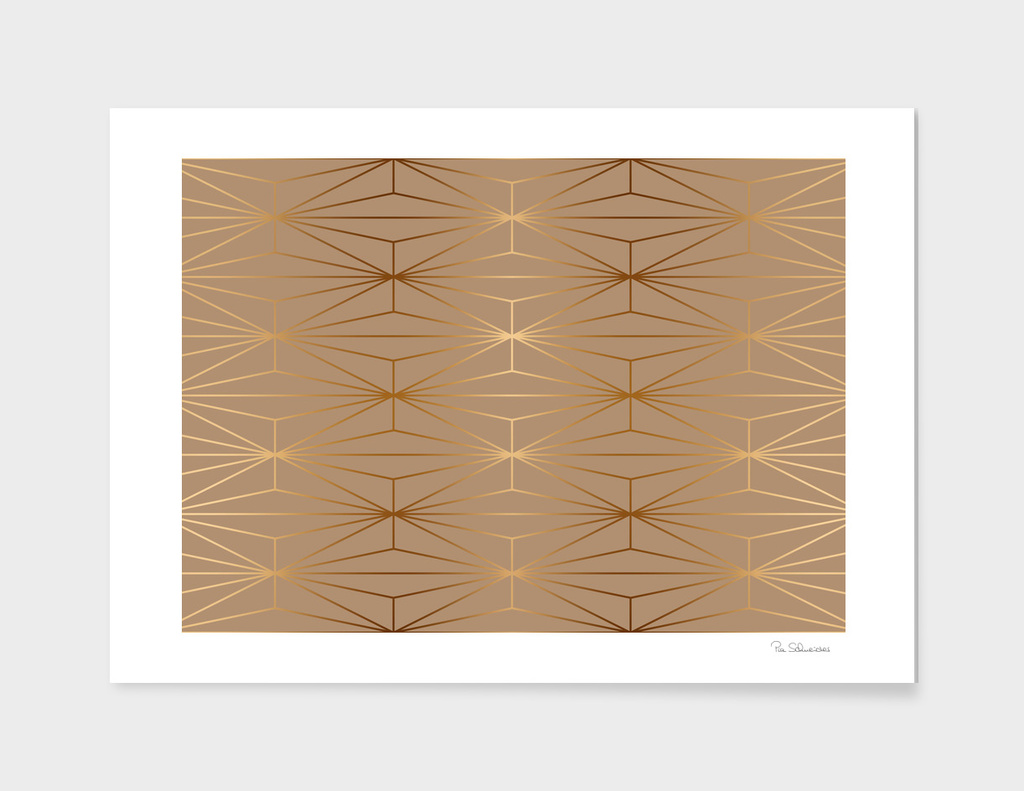 ELEGANT GOLD DIAMOND PATTERN IIa
