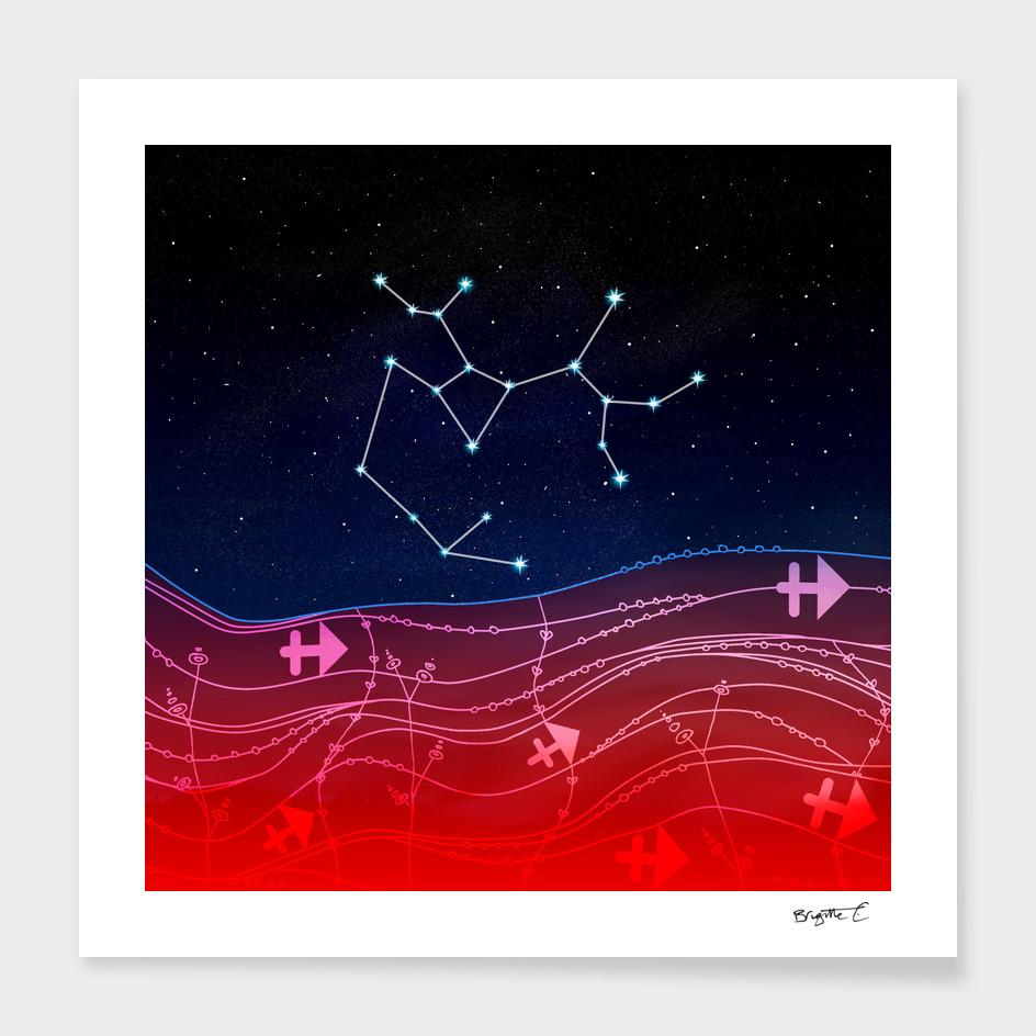 Sagittarius Zodiac Constellation Design