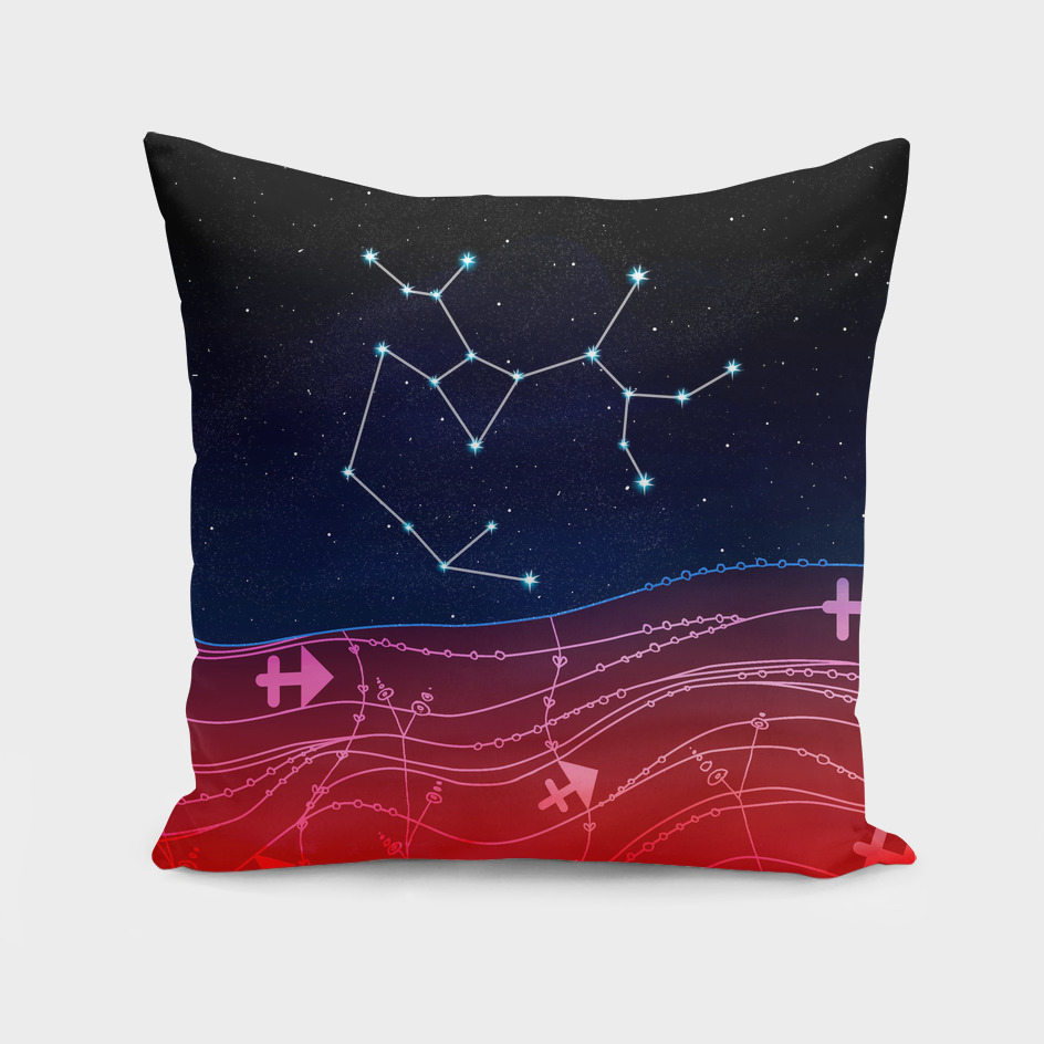 Sagittarius Zodiac Constellation Design