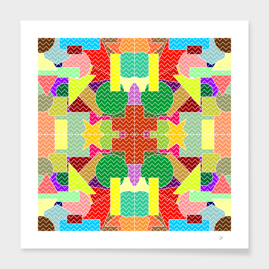 Chevron shapes pattern