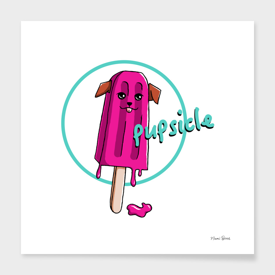 Pupsicle Pun Illustration
