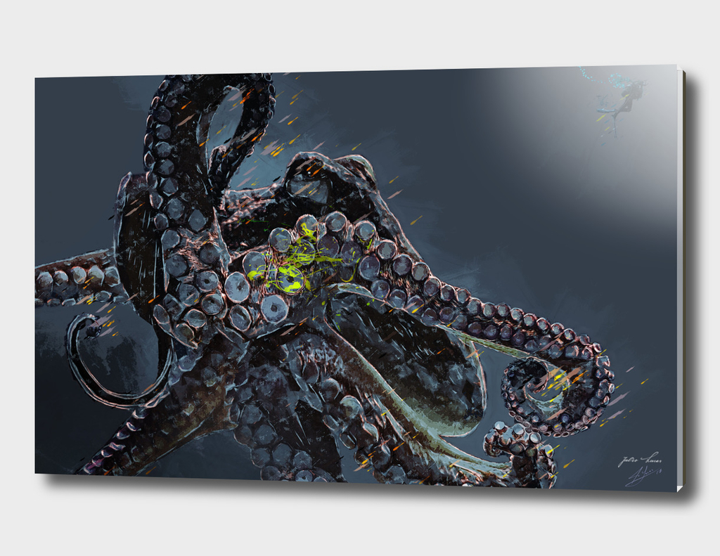 "Release the Kraken"" - Giant Octopus Digital Illustration"