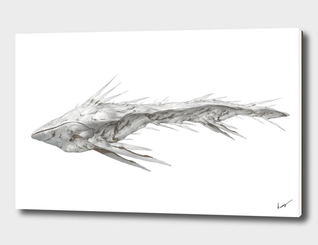 Alien mother ship Concept Art Painting