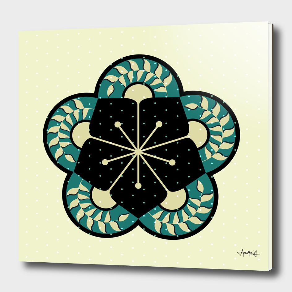 Geometric Heliconia Fan Pattern