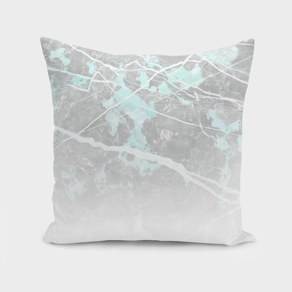 Teal and Grey Marble - Ombre