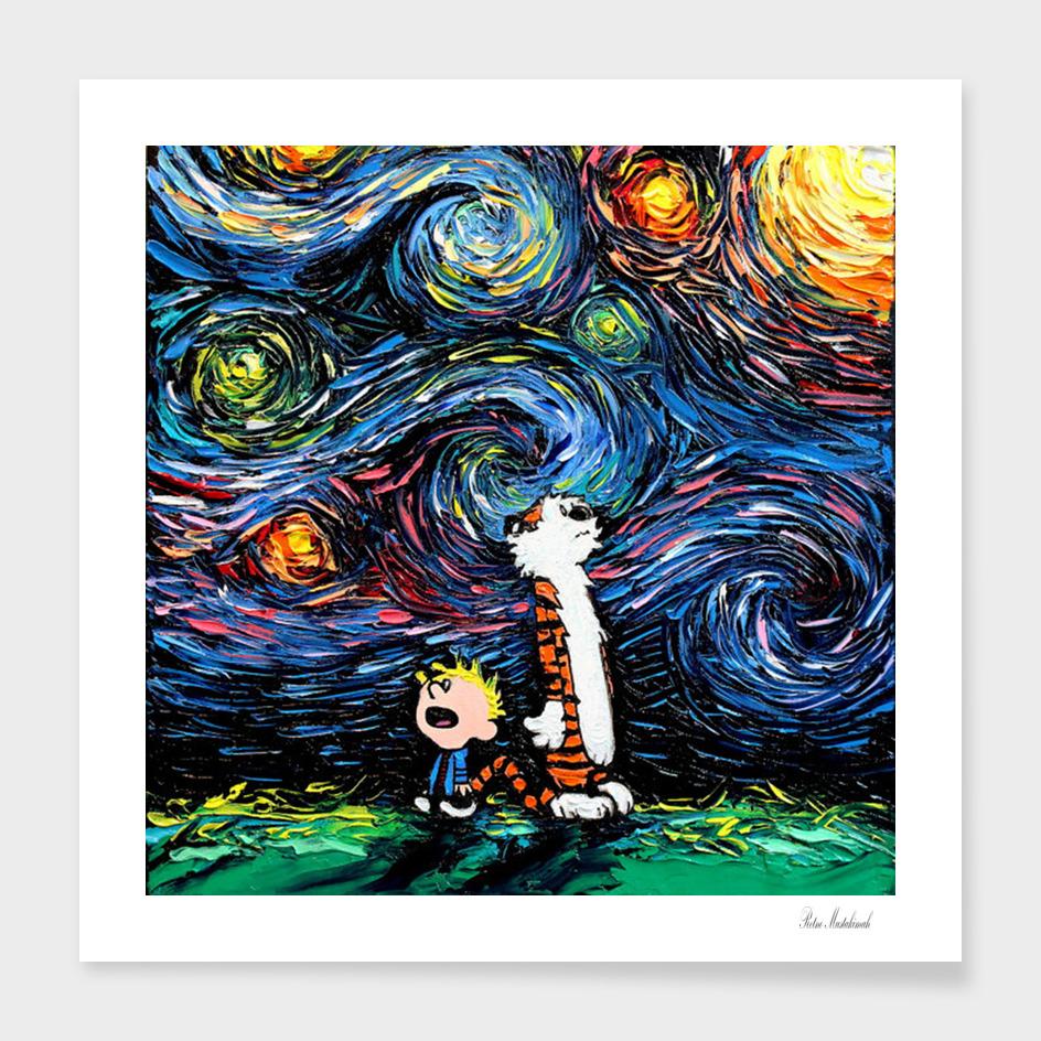 Calvin and Hobbes van Gogh