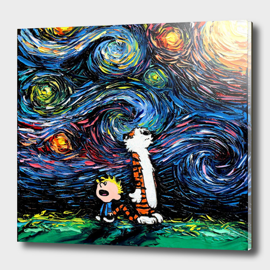 Calvin and Hobbes van Gogh