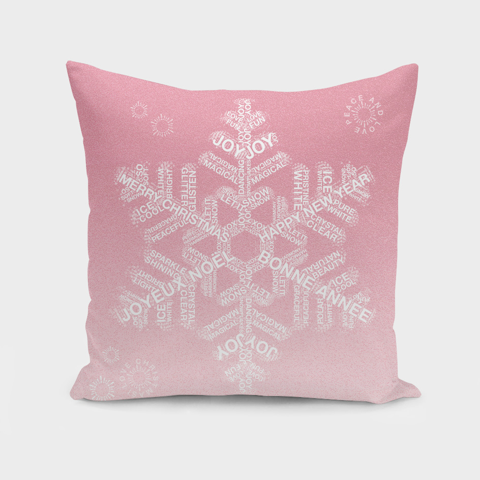 Snowflake Greetings - Ombre Blush