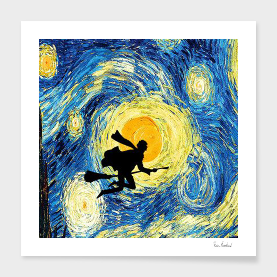 Harry Potter Van Gogh Starry Night Art Painting