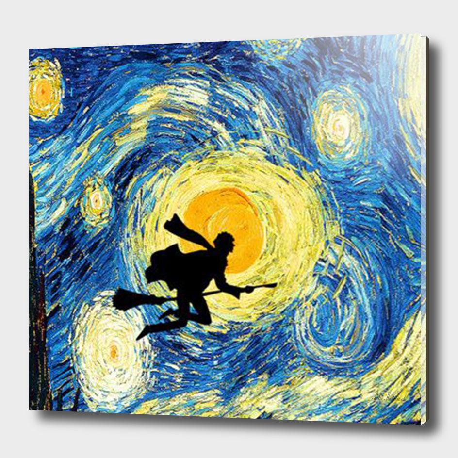 Harry Potter Van Gogh Starry Night Art Painting