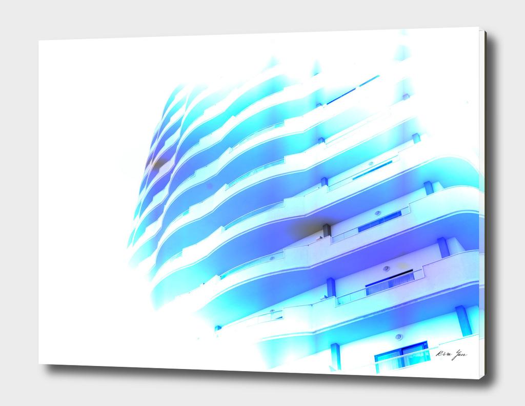 Pop art skyscraper